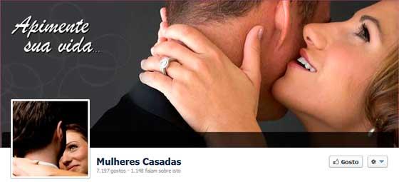mulheres casadas no Facebook